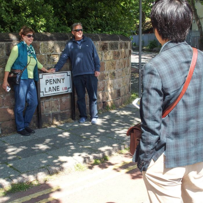 Beatles Penny Lane Besucher